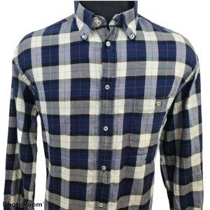 Paul & Shark Casual Blue Plaid Button Shirt Sz XL